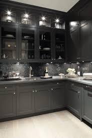 Black Shaker Kitchen Cabinets Deck Design Gorgeous Black Kitchen Design With Oak Wood