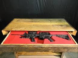 secret compartment rifle storage table furniture stashvault