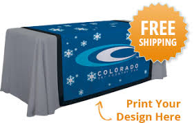 Trade Show Table Runner Tradeshow Table Runners Convention Custom Logo Table Runners