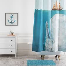 Deny Shower Curtains Terry Fan The Whale Shower Curtain Deny Designs