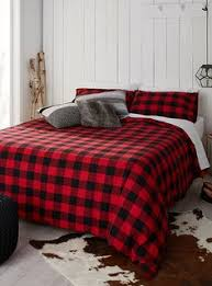 buffalo check flannel duvet cover set duvet comforter and shopping