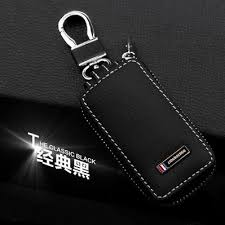 classic key rings images Black leather key wallet classic car key ring for toyota peugeot jpg