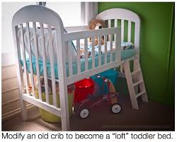 Crib Loft Bed Diy On A Dime How To Make A Toddler Loft Bed Out Of An Crib
