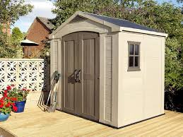 home design products keter keter factor outdoor plastic garden storage shed 8 x 6 feet