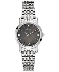 bracelet diamond watches images Bulova women 39 s diamond accent stainless steel bracelet watch 27mm tif