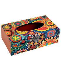 decorative tissue box my own wood decorative tissue box holder multicolour buy my own