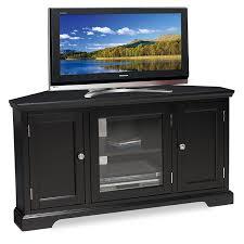 Tv Unit Furniture Online Amazon Com Leick Black Hardwood Corner Tv Stand 56 Inch Kitchen