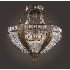 Bronze Semi Flush Ceiling Light by Elk Lighting Trump Home Millwood Antique Bronze Semi Flush Ceiling