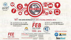 workshop on internet of things iot using raspberrypie 2 days