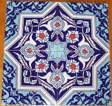 Ottoman Tiles Raised Blue Ottoman Floral Design 12 8 X8 Turkish Floral