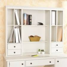 white desk with hutch and drawers if this was just a smidge smaller in width it would be the perfect