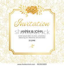 wedding paper gold flower wedding heart invitation weddings stock vector