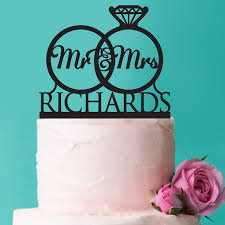 acrylic cake toppers wedding rings mr mrs acrylic cake topper acrylic wedding cake