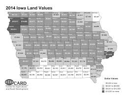 Iowa State University Map Card 2014 Iowa Land Value Survey Results