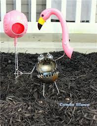 Recycled Garden Decor Condo Blues Whimsical And Recycled Diy Flamingo Garden Decor
