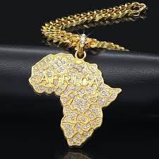 african women necklace images Weiyu trendy rhinestone crystal gold africa map pendant necklace jpg