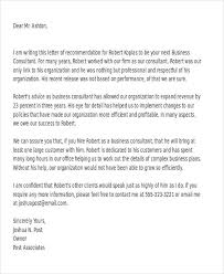 business recommendation letter sample letter of recommendation