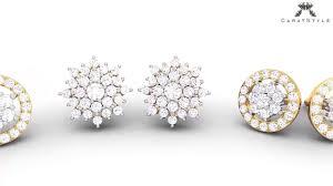 diamond earrings designs knot of diamonds cluster collection designer diamond earrings