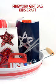 easy 4th of july crafts for kids fireworks gift bags by amy