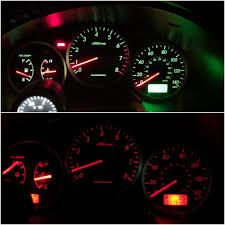 Ugly Green Changed The Ugly Green Lights On My Cluster To Red Leds Subaru