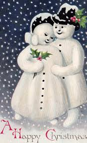 485 best vintage snowmen cards images on vintage