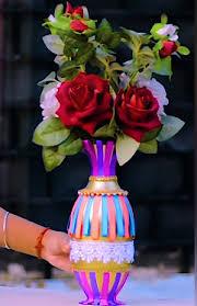 Best Out Of Waste Flower Vase Plastic Bottle Flower Vase The Handmade Crafts