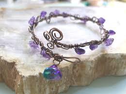 leaf wrap bracelet images Amethyst bracelet wire wrapped amethyst antiqued copper bracelet jpg