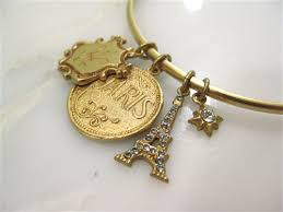 bangle charm bracelet gold images La vie parisienne by catherine popesco gold paris and eiffel tower jpg