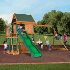 montego bay cedar swing set backyard discovery