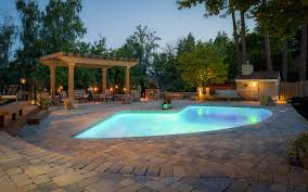 Pool With Pergola by Pool U0026 Spa Lighting Paradise Restored Landscaping