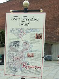 Freedom Trail Map Boston by East Coast Cruise