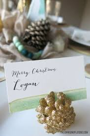 unique place cards mint u0026 gold modern christmas tablescape modern christmas