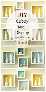 Home Wall Display Diy Cubby Wall Display A Pretty Fix