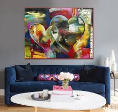original home decor hand painted modern abstract oil painting couple love bedroom office