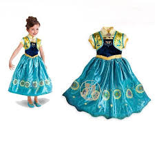 frozen fever anna dress kid cosplay costume