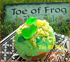just dip it in chocolate toe of frog halloween lemon cupcake recipe