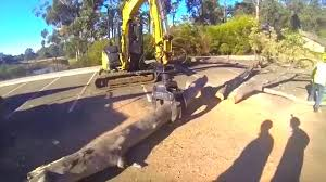 excavator log grab action arbor using intermercato grapple youtube