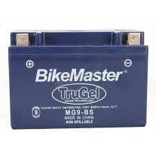 bikemaster trugel 12 volt battery mg9 bs atv dirt bike