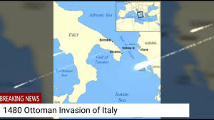 Brindisi Italy Map by The Ottoman Invasion Of Italy Youtube