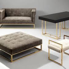 Bench Ottomans Caine Ottoman Modern Furniture Jonathan Adler