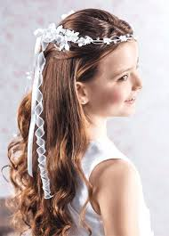 cute hairstyles for first communion unique little girl first communion hairstyles with veil st