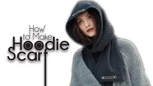 easy diy sew from scratch hoodie scarf youtube