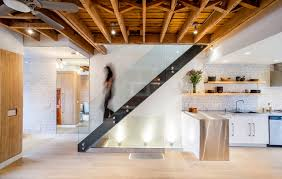 Industrial Stairs Design St Clarens Renovation Industrial Staircase Toronto By