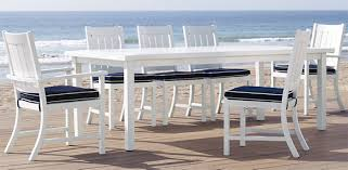 white outdoor dining table sets rustic bench set segals furniture 27