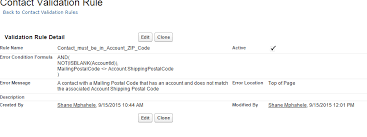 zip code validation pattern create a validation rule to check that a contact is in the zip code