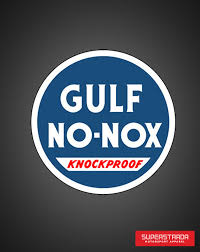gulf racing logo gulf 18 u2033 inch knockproof disk sign