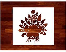 turkey stencil etsy