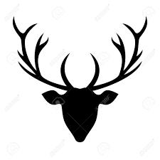 Deer Head by Deer Head Silhouette Illustration Royalty Free Cliparts