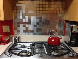 kitchen remarkable stainless steel tile kitchen backsplash give