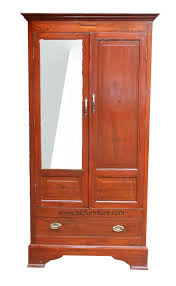wooden cabinet with mirror teakwood cupboard with drawer